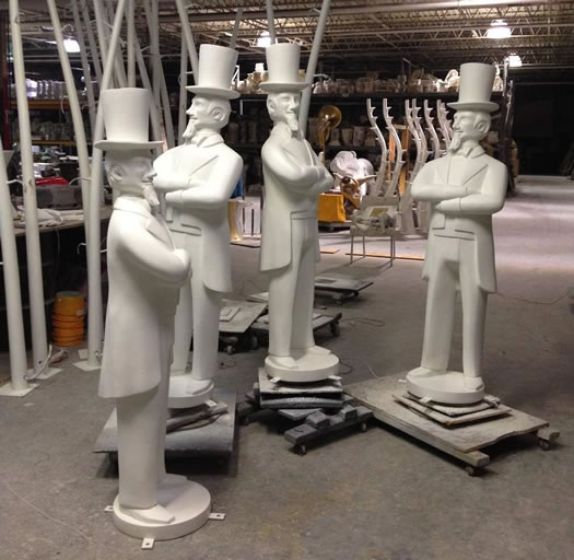 blank uncle sam statues Troy BID