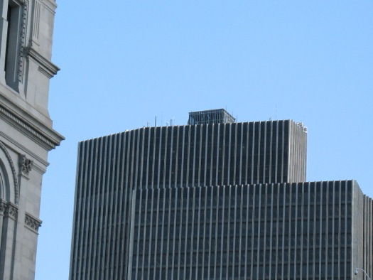box structure atop Corning Tower