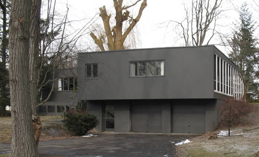 mid-century modern house in Albany