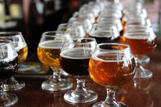 burlington breweries samples at VPB