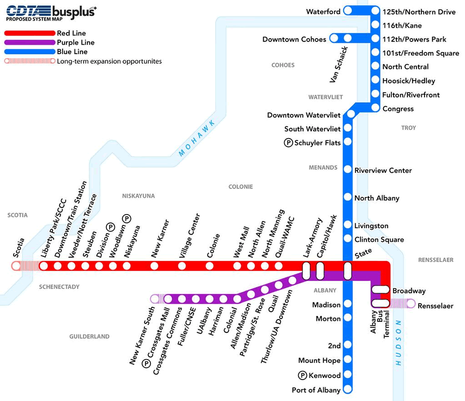 busplus proposed expansion map