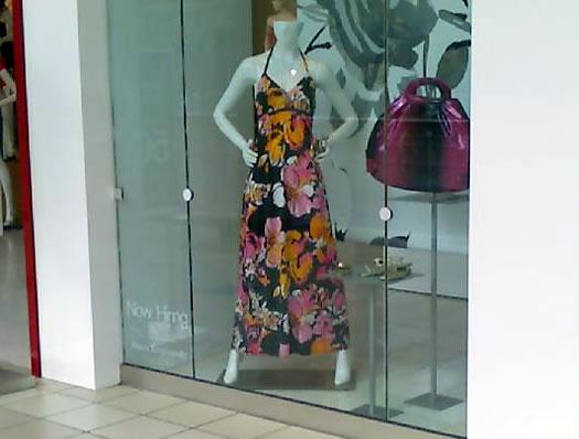 caftan in a store window