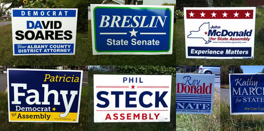 campaign sign design primary winners