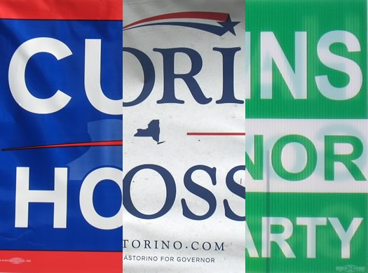 campaign yard sign design election 2014 governor composite