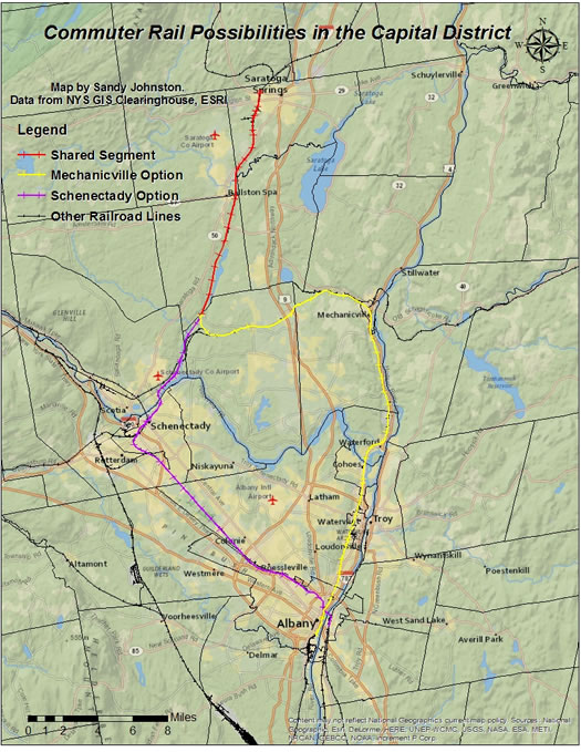 capital district commuter rail possible map