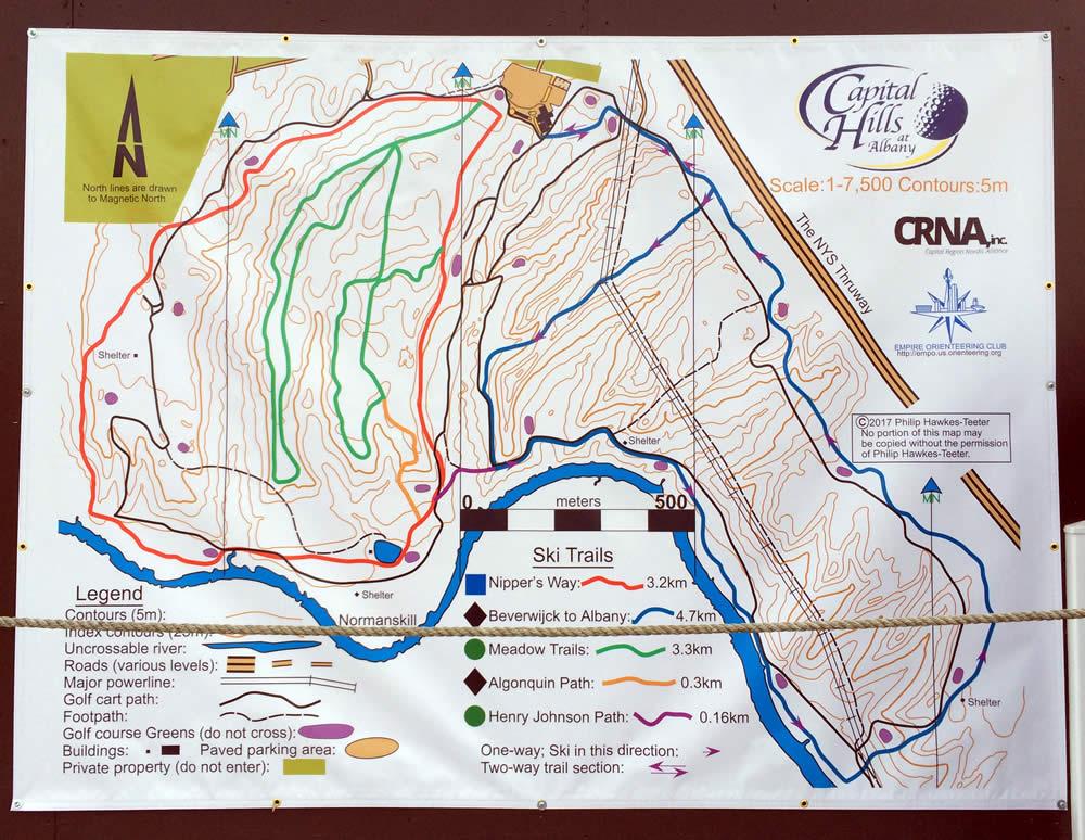 capital hills winter trails 2017