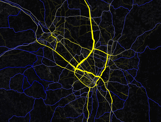 capital region traffic density mapbox