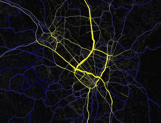capital region traffic density mapbox