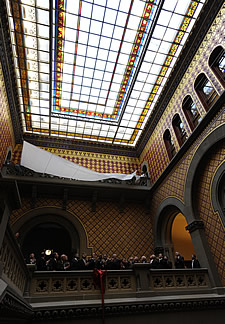 capitol assembly staircase skylight unveiling