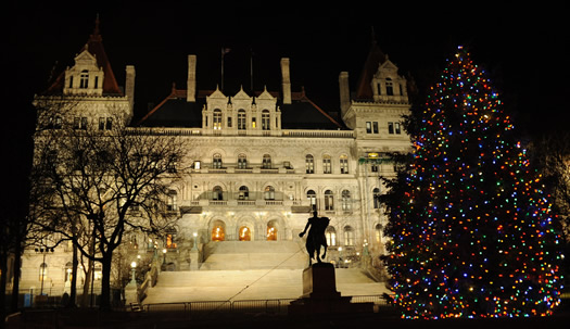 capitol holiday night