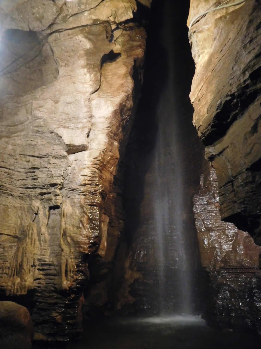 Secret Caverns waterfall credit Julie Madsen