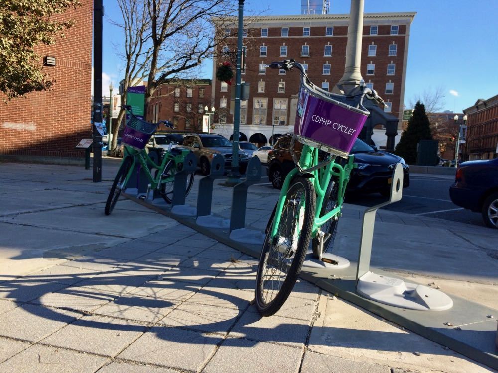 cdta bike share downtown Troy 2017-November