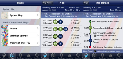cdta iphone app screenshots