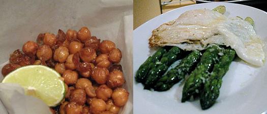 cella bistro chickpeas asparagus
