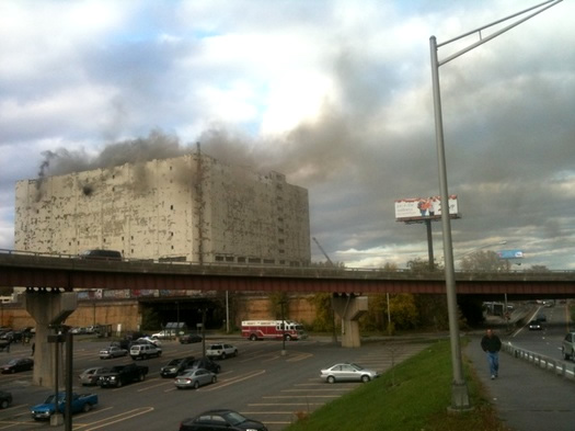 Fire At Central Warehouse All Over Albany