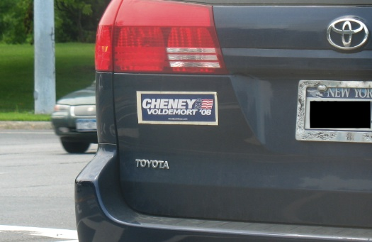 cheney-voldemort 08 bumper sticker