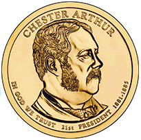 chester a arthur gold dollar