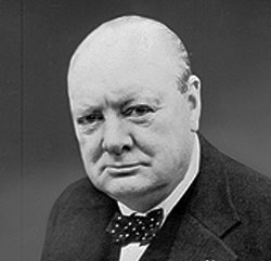 Winston Churchill portrait