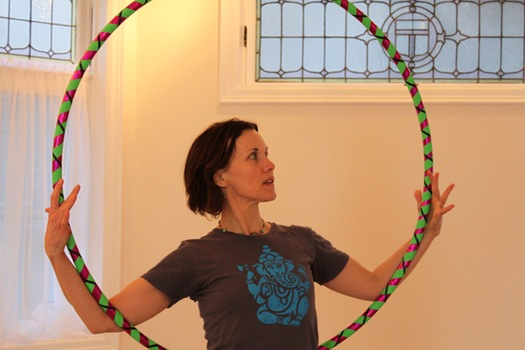 circus yoga christine hoop