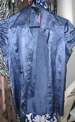 closet shop blue satin