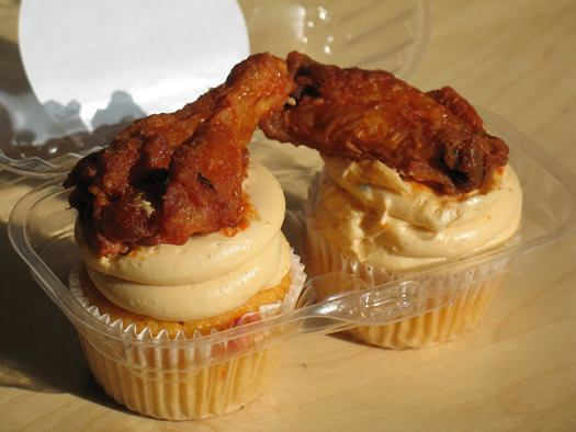 two coccadotts buffalo wing cupcake