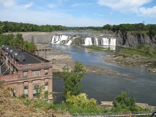 Cohoes Falls old observation spot