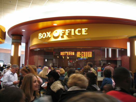 ticket counter at the Colonie Center theater