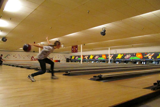 Colonie Central High School girls bowling team practice