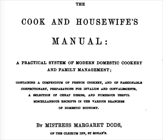 cook and housewifes manual dods cover page