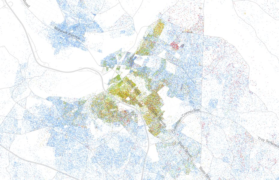 Everyone on a map, dot by dot | All Over Albany