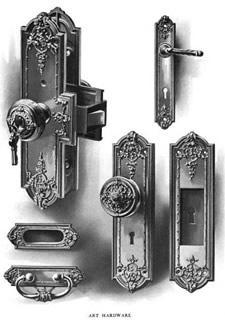 corbin antique door locks