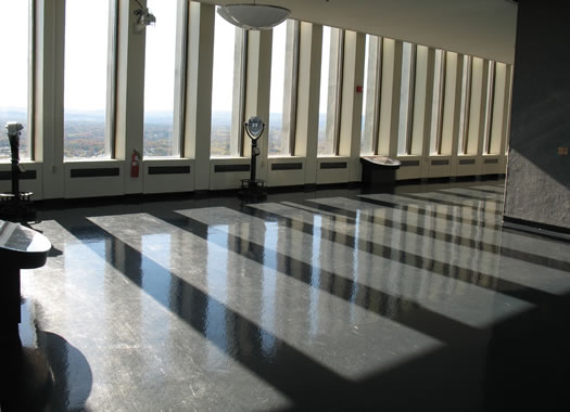 a photo of the Corning Tower observation deck