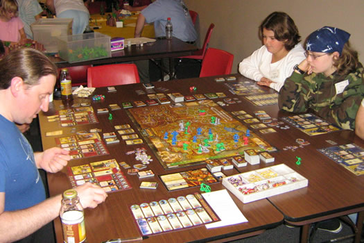 council of five nations players at gaming board