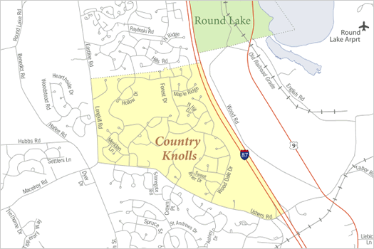 country knolls clifton park census map