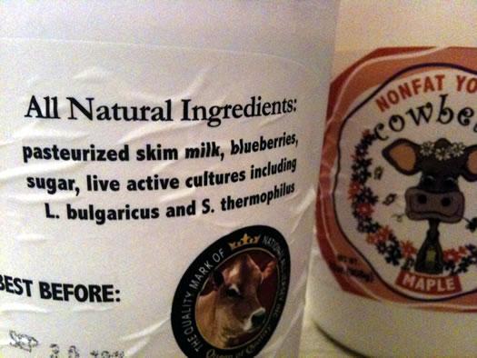 cowbella yogurt ingredients