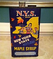 craigslist antique ny maple syrup tin
