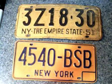 craigslist old NY license plates
