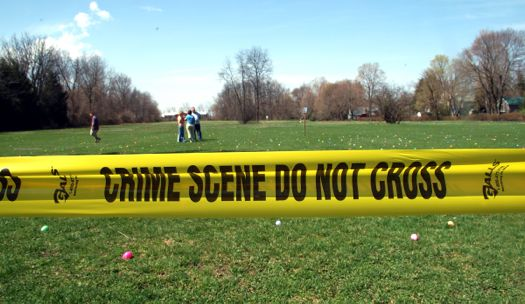 egg hunt crime scene