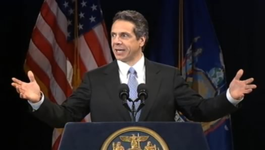 cuomo state of state 2011 arms wide
