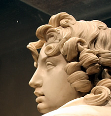 curly hair statue