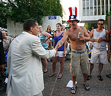David Paterson at Empire State Plaza July 4 2010
