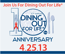 dining out for life 2013 logo