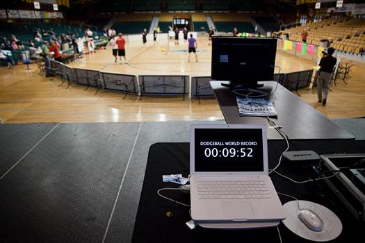 dodgeball world record