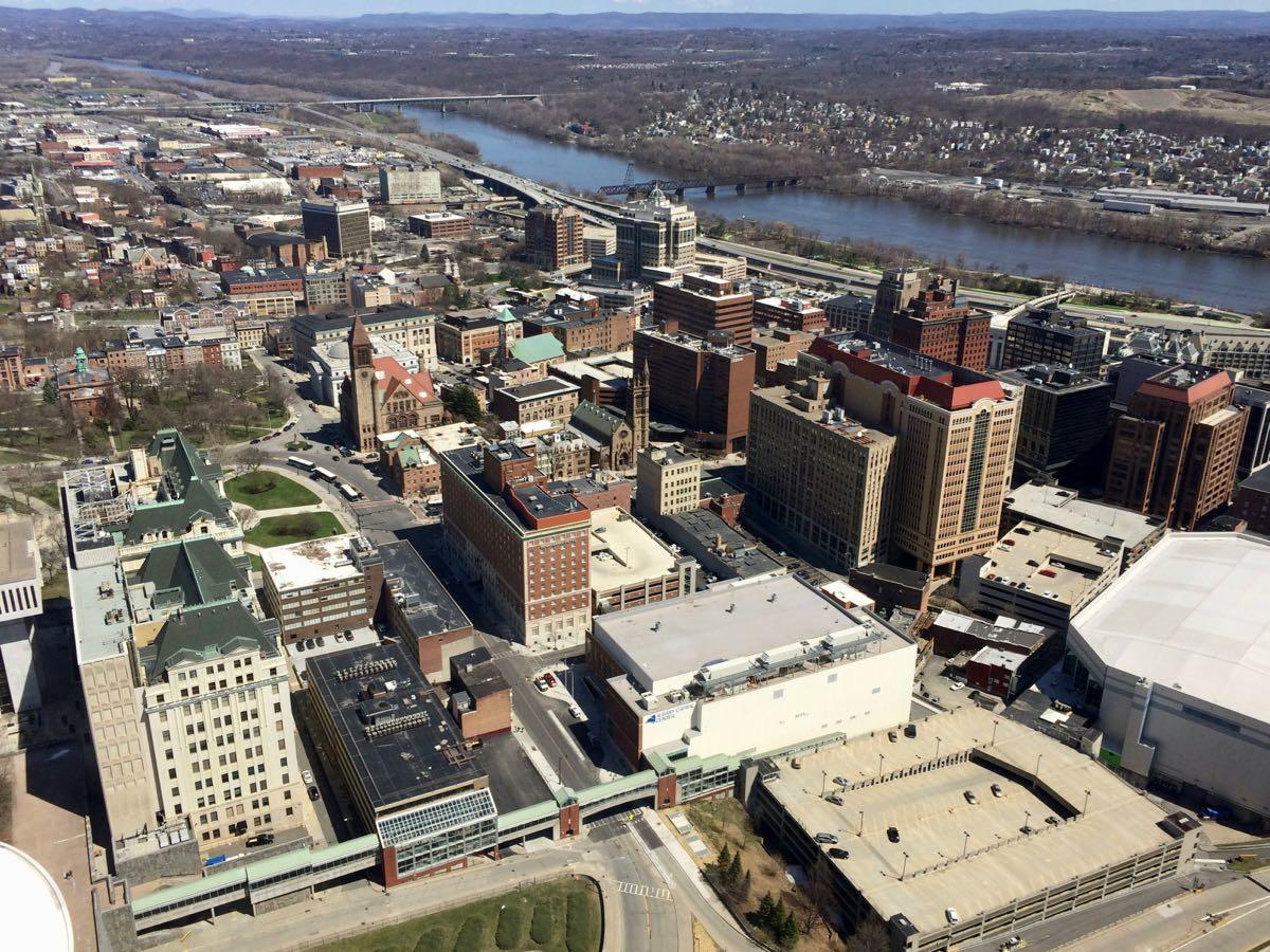 downtown Albany from Corning Tower 2017-April