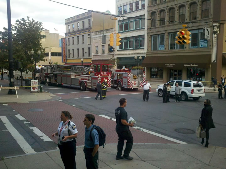Reports Underground Fire Blown Manhole Covers In