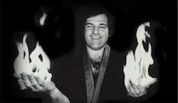 Dr. Z with flaming hands