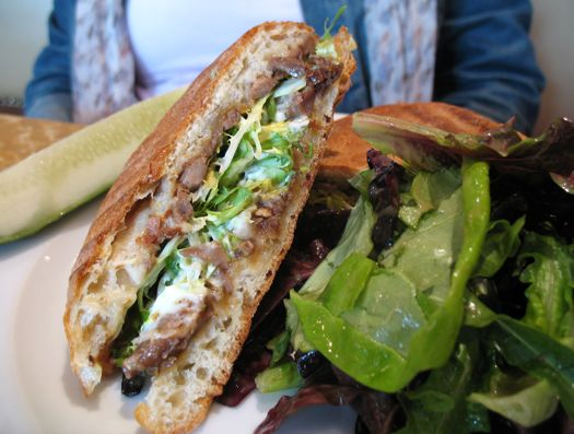 the duck confit panino at Swoon Kitchenbar in Hudson