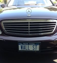 ebay wall st license plate