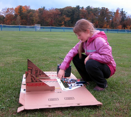 emmas flying pizza box work on ground