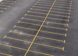 empty parking spaces